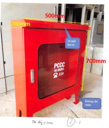 Hộp đựng cuộn vòi chữa cháy 500 x 700 x 200 mm